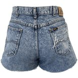 another view of 80's Acid Wash Distressed High Waisted Denim Cut Off Shorts
