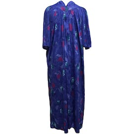 80's Blue Floral Print Night Dress