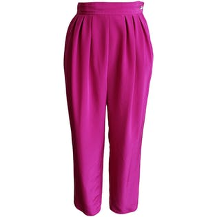 80's Bright Fuchsia Trousers