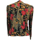another view of 80's Button Up Floral Print Blouseby Lady Carol