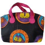 80's Cats Graphic Print Bag by Laurel Burch