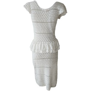 80's Crochet Bridal Dress by Betsey Johnson