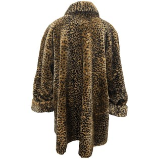 80's Leopard Print Faux Fur Coat by Monterey Fashion