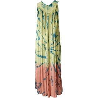 80's Multicolored Tie Dyed Tank Dress by Belma