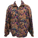 80's Muticolored Graphic Print Windbreaker
