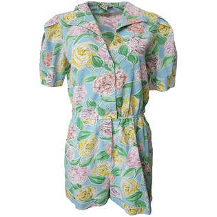 80's Peony Romper by Wear Or When
