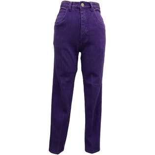 80's High Waisted Purple Stretch Skinny Jeans