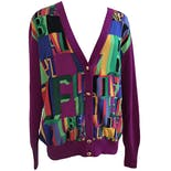 80's Silk Wool Cardigan Italy