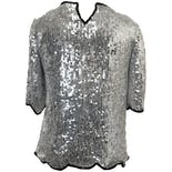 another view of 80's Silver Sequin Blouse by Praise Hymn Fashions