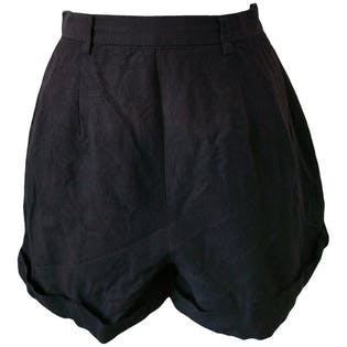 80's Super Soft Black Shorts