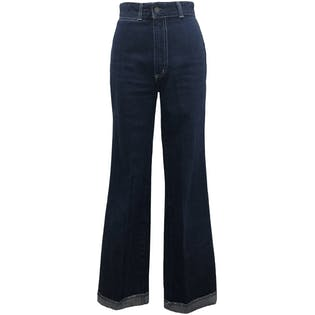 80's High Waisted Dark Wash Jeans