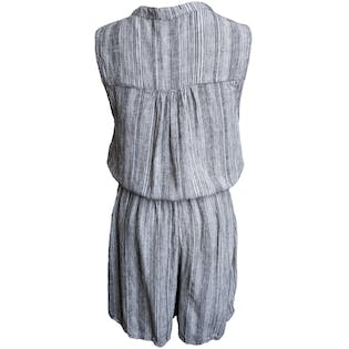 80's Vertical Striped Romper