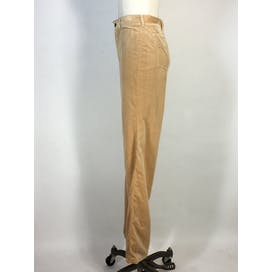 80's Gold Velour High Waist Pants by Bonjour