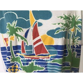 80's/90's Cap Sleeve Sailboat Design T-Shirt by Why Not...!?