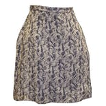 90's Beige Silk Floral Wrap Skirt by Ann Taylor