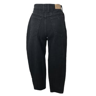90's Black Denim High Waisted Straight Leg Jeans by Riders