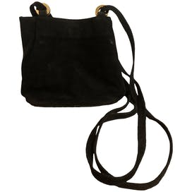 90's Black Suede Purse