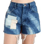 90's Bleached and Patchwork Cutoff Shorts by Wrangler