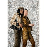 another view of 90's Cheetah Print Jacket and Skirt Set by Alberto Makali for Caché