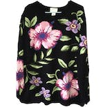 90's Floral Knit Sweater by Belle Isle