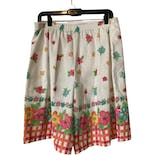 another view of 90's Cotton Blend Floral Print Skort by Cricket Lane