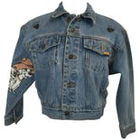 80's Dalimation Painted Denim Jacket by Jordache