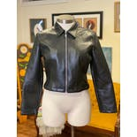 another view of 90's Faux Leather Zip Jacket by A. Byer