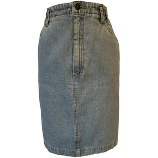 90's Fitted Denim Skirt by Liz Wear