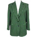 90's Green and Black Wool Blazer by Isabel Ardee