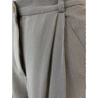 90's High Waisted Checked Print Trousers