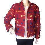 90's Colorful Woven String Jacket by Kindred Spirit