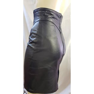 90's Leather Mini Skirt