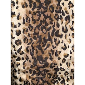 90's Leopard Silk Short Sleeve Button Up by Jane Ashley