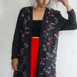 another view of 90's Patchwork Floral Rayon Robe