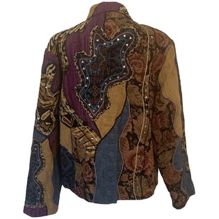 90's Patchwork Tapestry Jacket by Anage