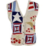 90's Patriotic Sweater Vest by Christopher & Banks