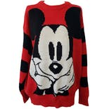 90's Red Knit Mickey Sweater by Disney