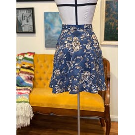 90's Stone Gray Floral Mini Skirt by All That Jazz
