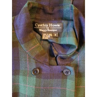 90's Tartan Plaid Coat Dress by Cynthia Howie