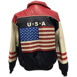 another view of 90's USA Faux Leather Zip Up Jacket by Steve & Barry's
