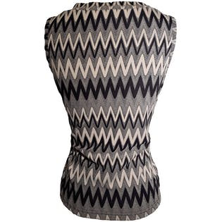 90's Zig Zag Striped Sleeveless Top by Rave City