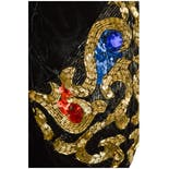 another view of 90's Black Velvet Dress with Jeweled Sleeves by I. Magnin