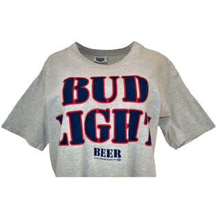 90's Bud Light Staff Graphic T-Shirt by Holoubek