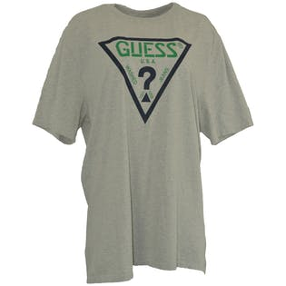 90's Gray Graphic T-Shirt by Guess Jeans