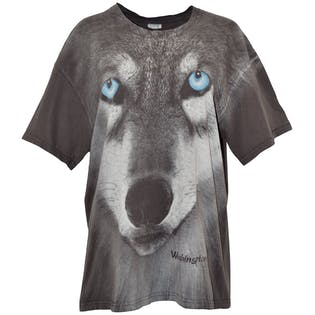 90's Gray Wolf Graphic T-Shirt