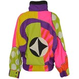 90's Rare Color Block Windbreaker by Saks Fifth Avenue