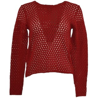 90's Red Netted Top by Andrea Jovine