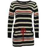 90's Red, White, and Blue Striped Sweater Dress by Roberto Cavalli
