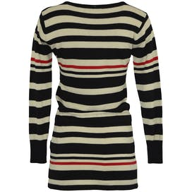 90's Red, White and Blue Striped Sweater Dress by Roberto Cavalli
