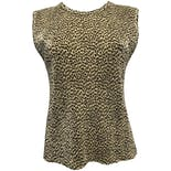 90's Leopard Print Accordion Tank Top